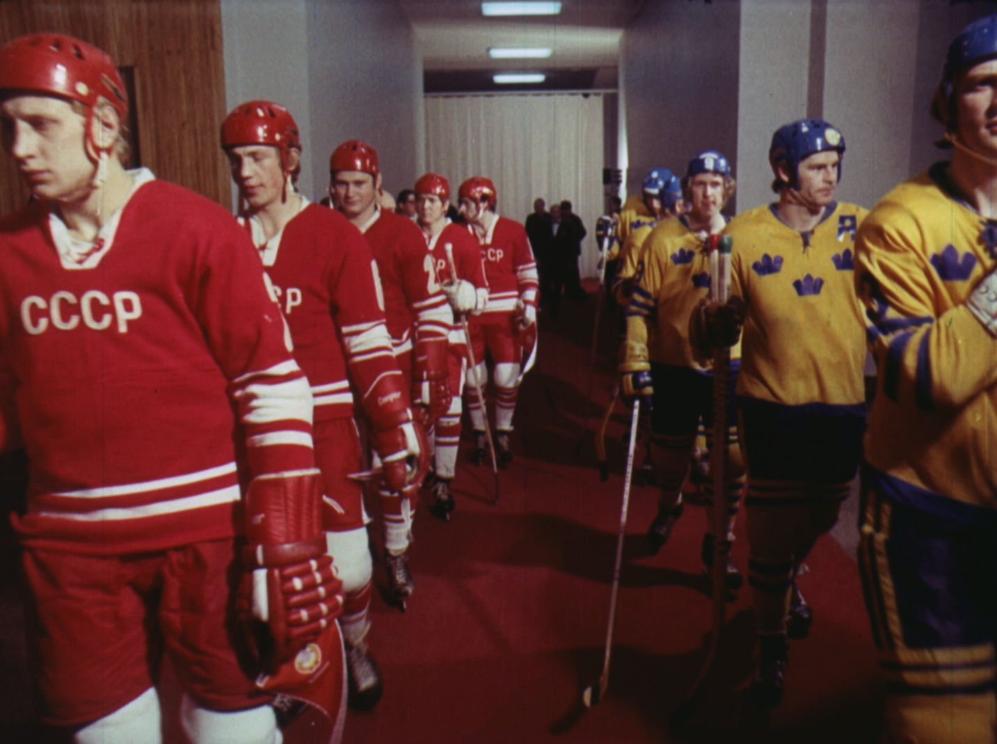 The Red Army faces Canada in archive footage from  Red Army