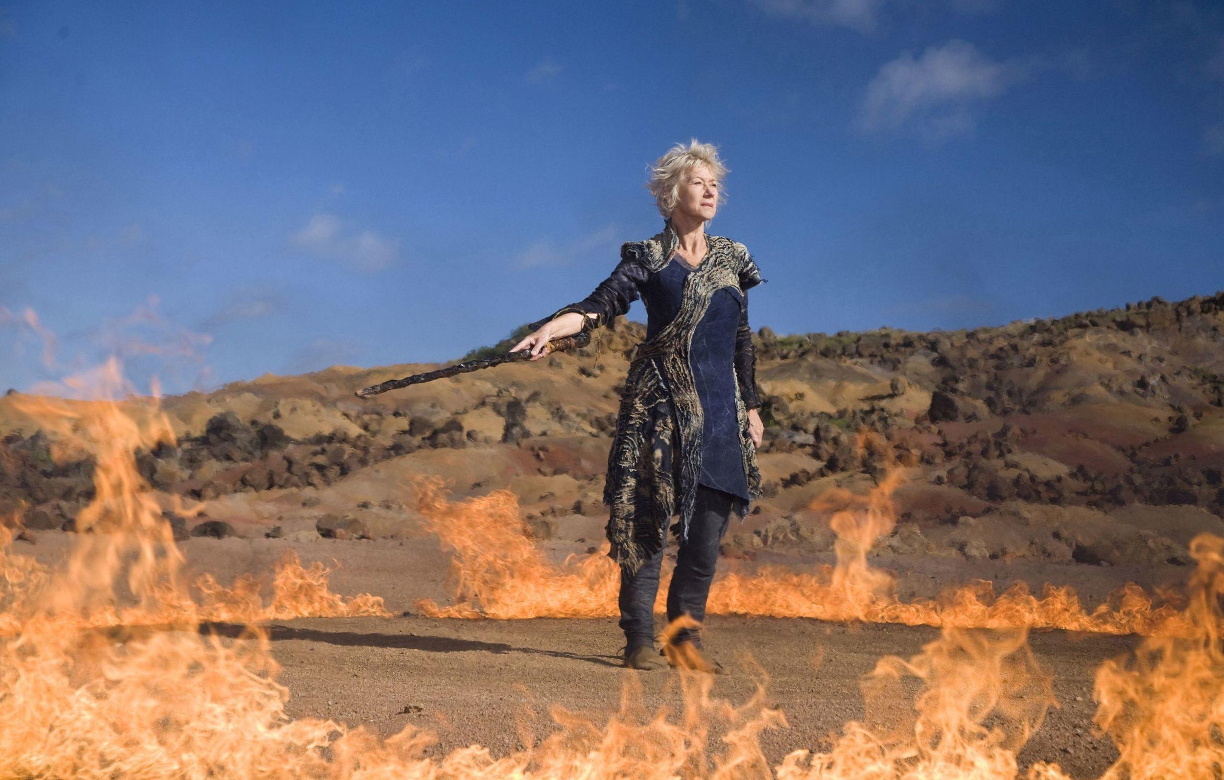 Helen Mirren as 'Prospera' in  The Tempest , directed by Julie Taymor (2010). Photo by Melinda Sue.