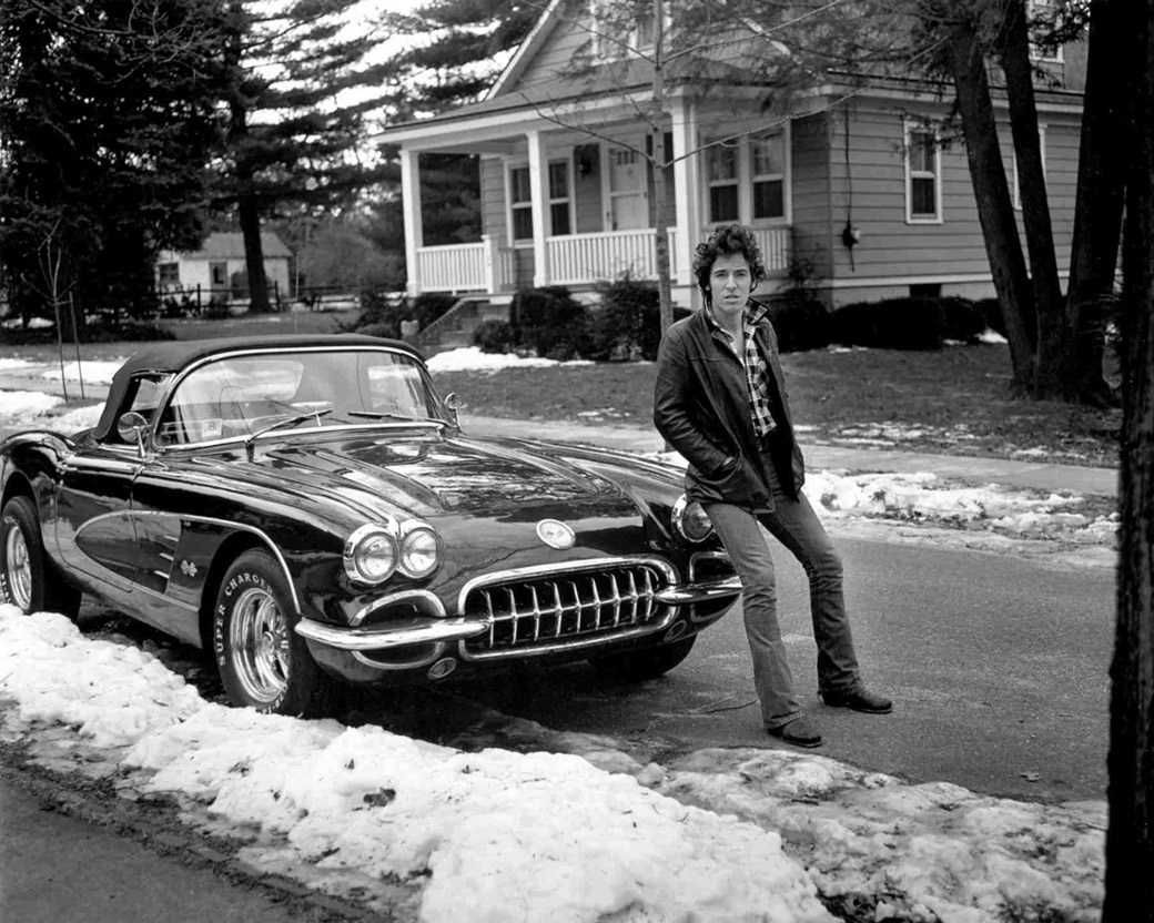 Bruce Springsteen in Haddonfield, N.J., 1978 - photo by  Frank Stefanko