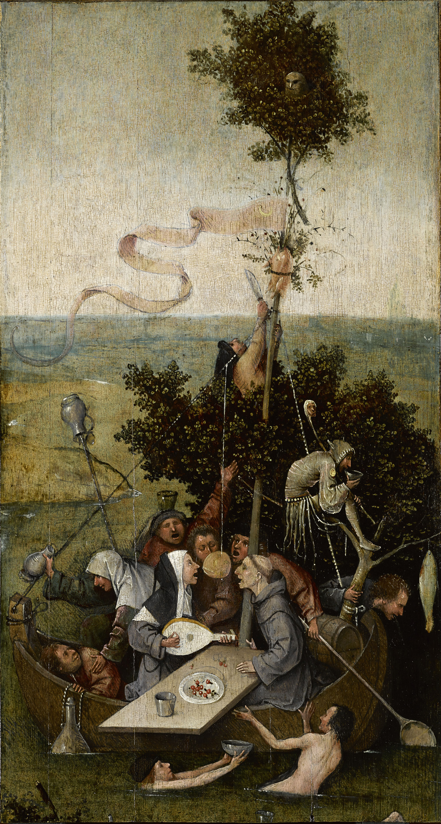 'The Ship of Fools' by Hieronymus Bosch (ca 1500-1510)
