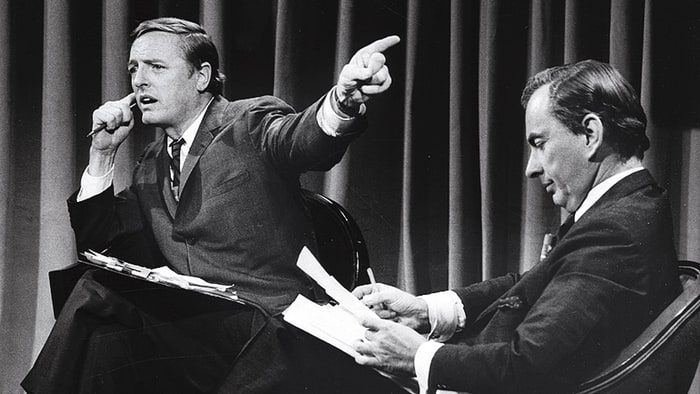 Gore Vidal and William F. Buckley Jr in 'Best of Enemies'.