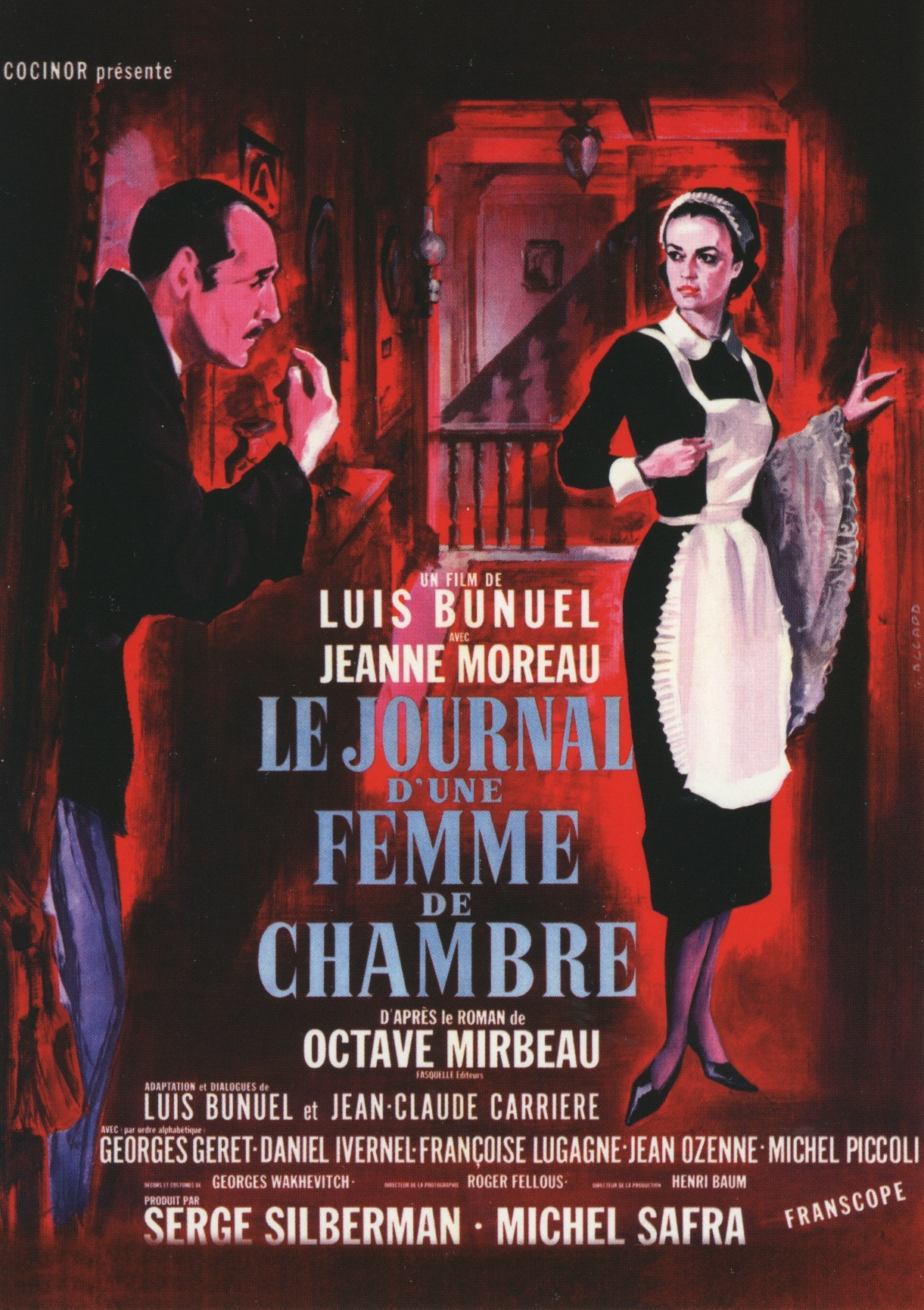 The French poster for Diary of a Chambermaid (1964)