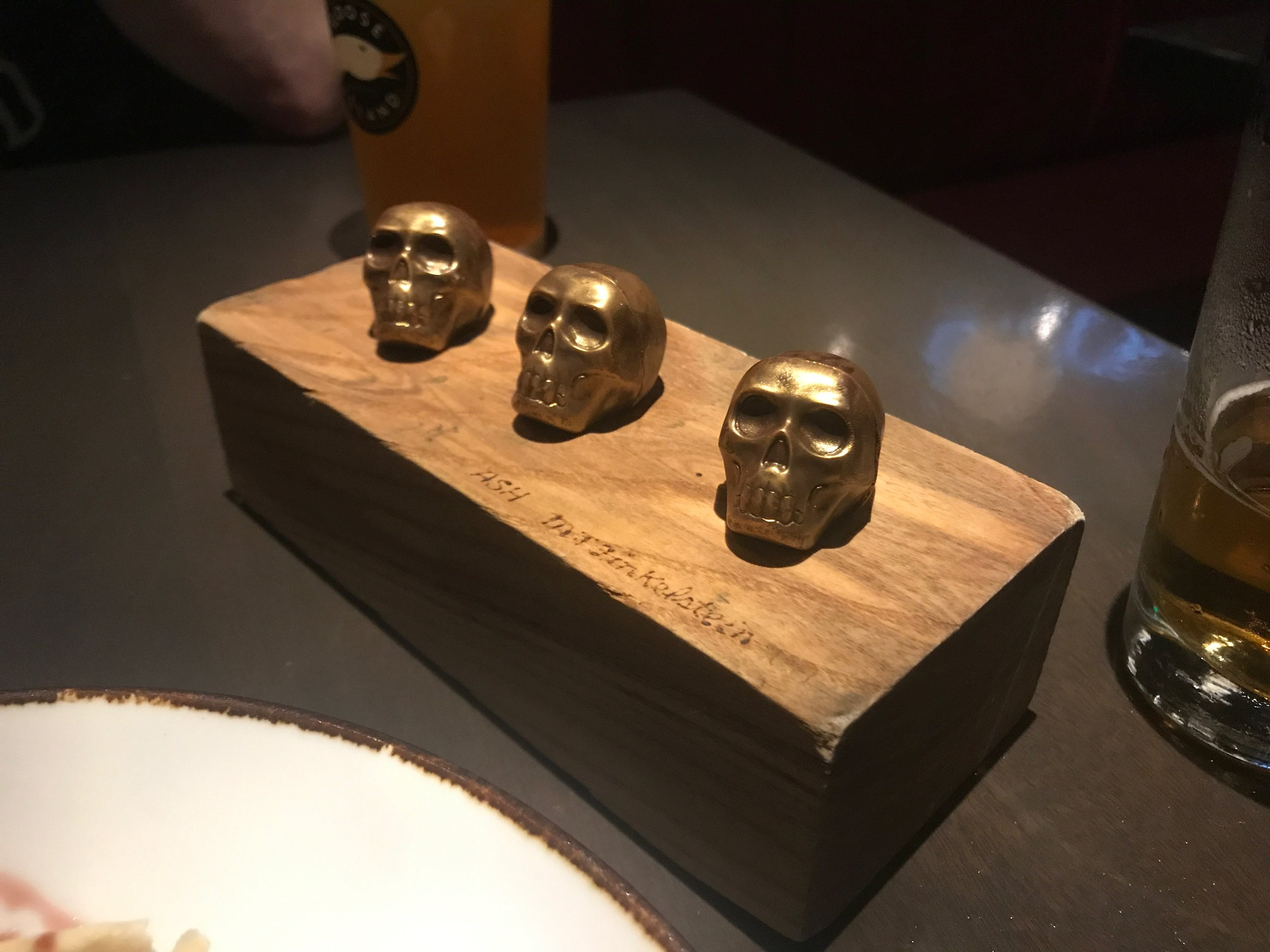 Vince Vaughn wasn't the only one crushing skulls tonight - although I'm not sure my petit four chocolates at The Carbon Bar count.)
