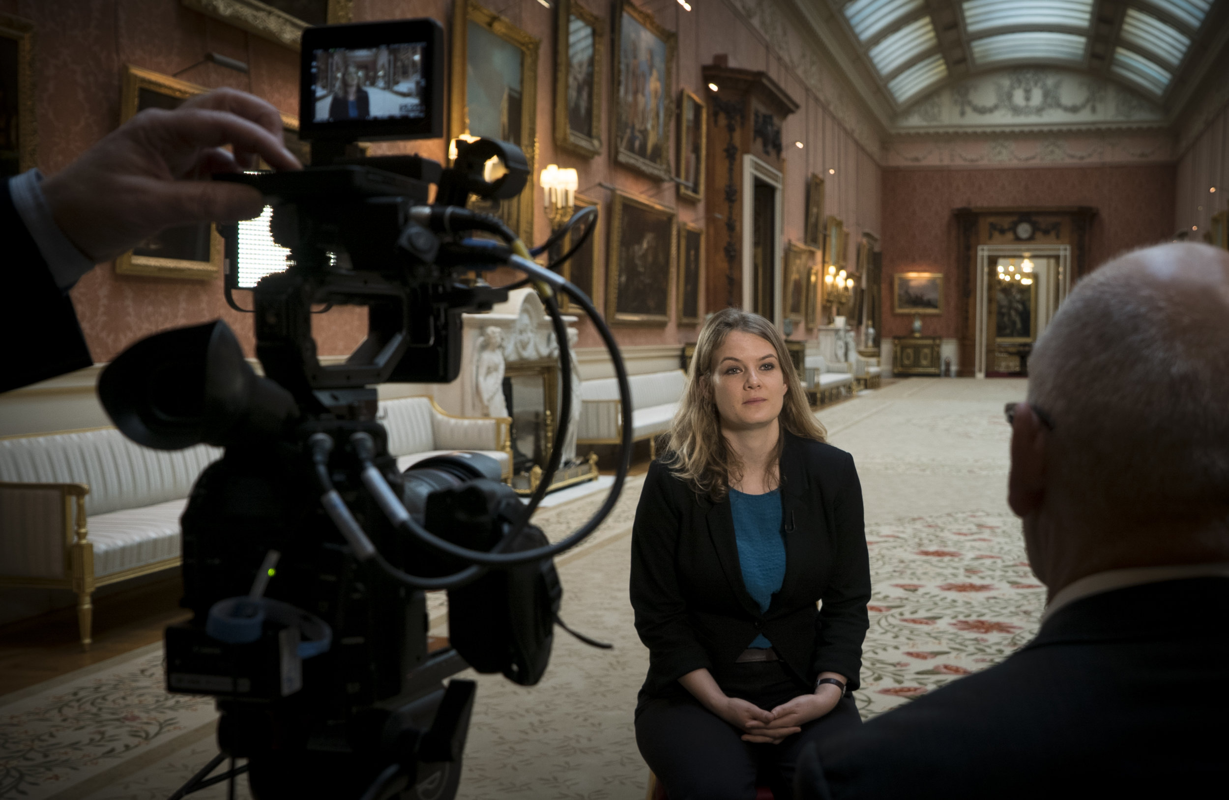 Filming with Rosie Razzall at The Queen's Gallery, Buckingham Palace © EXHIBITION ON SCREEN (David Bickerstaff)