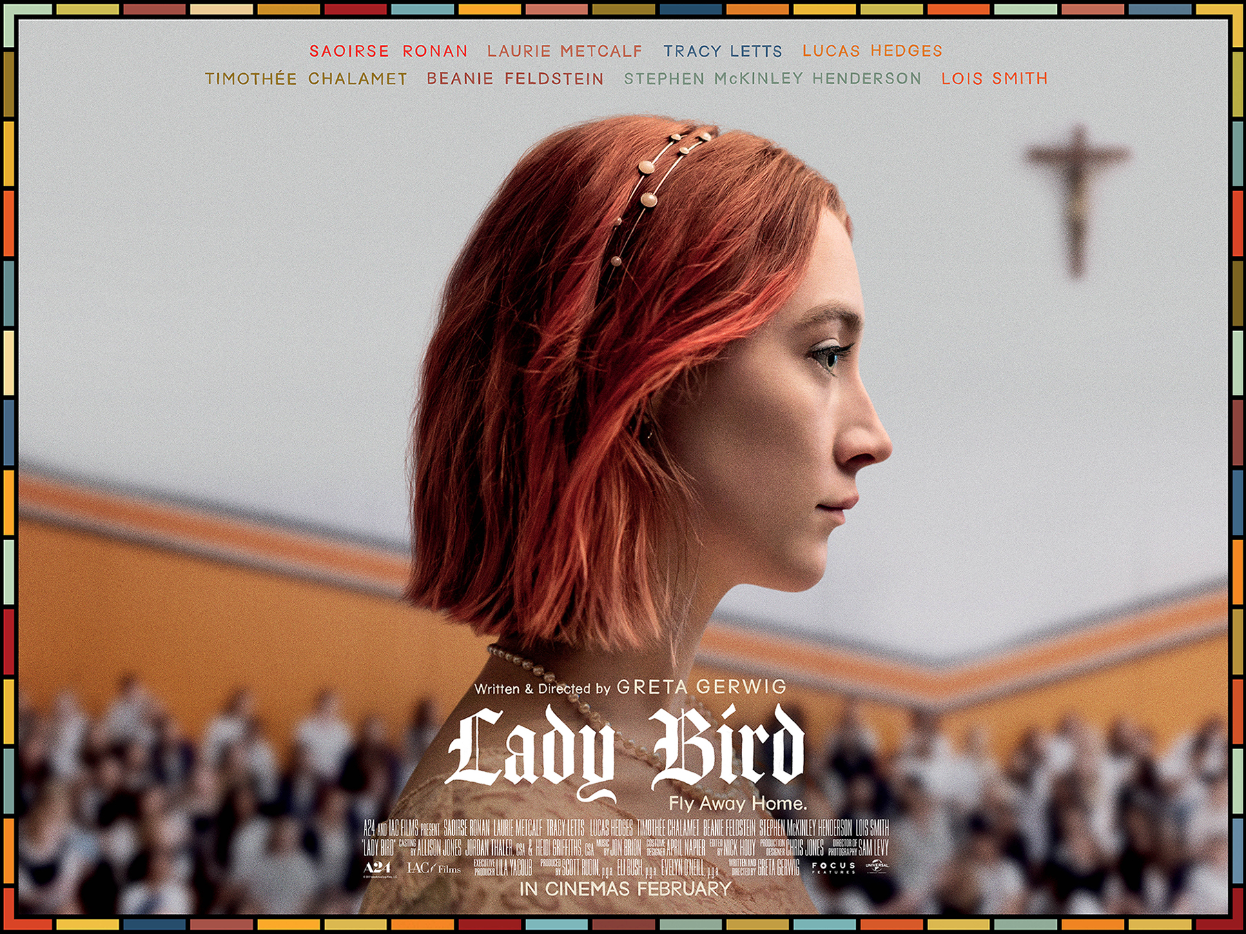 Lady Bird poster, signed by Greta Gerwig