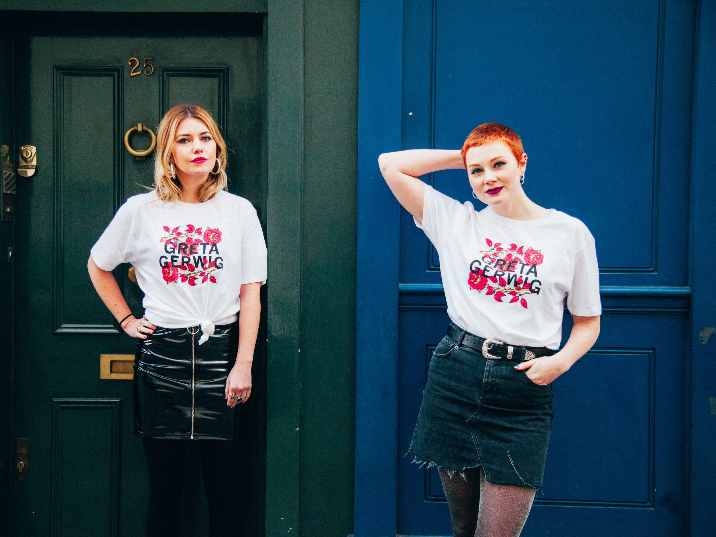 Limited Edition Greta Gerwig/Lady Bird t-shirts from Girls on Tops x Little White Lies