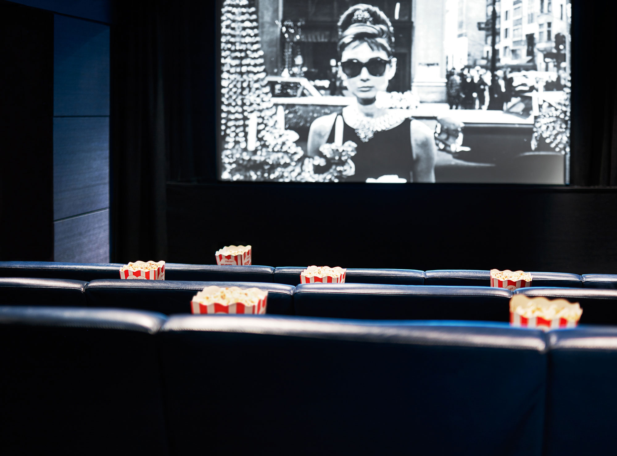 The 30-seat screening room at One Aldwych, a luxury cinema experience curated by Curzon.