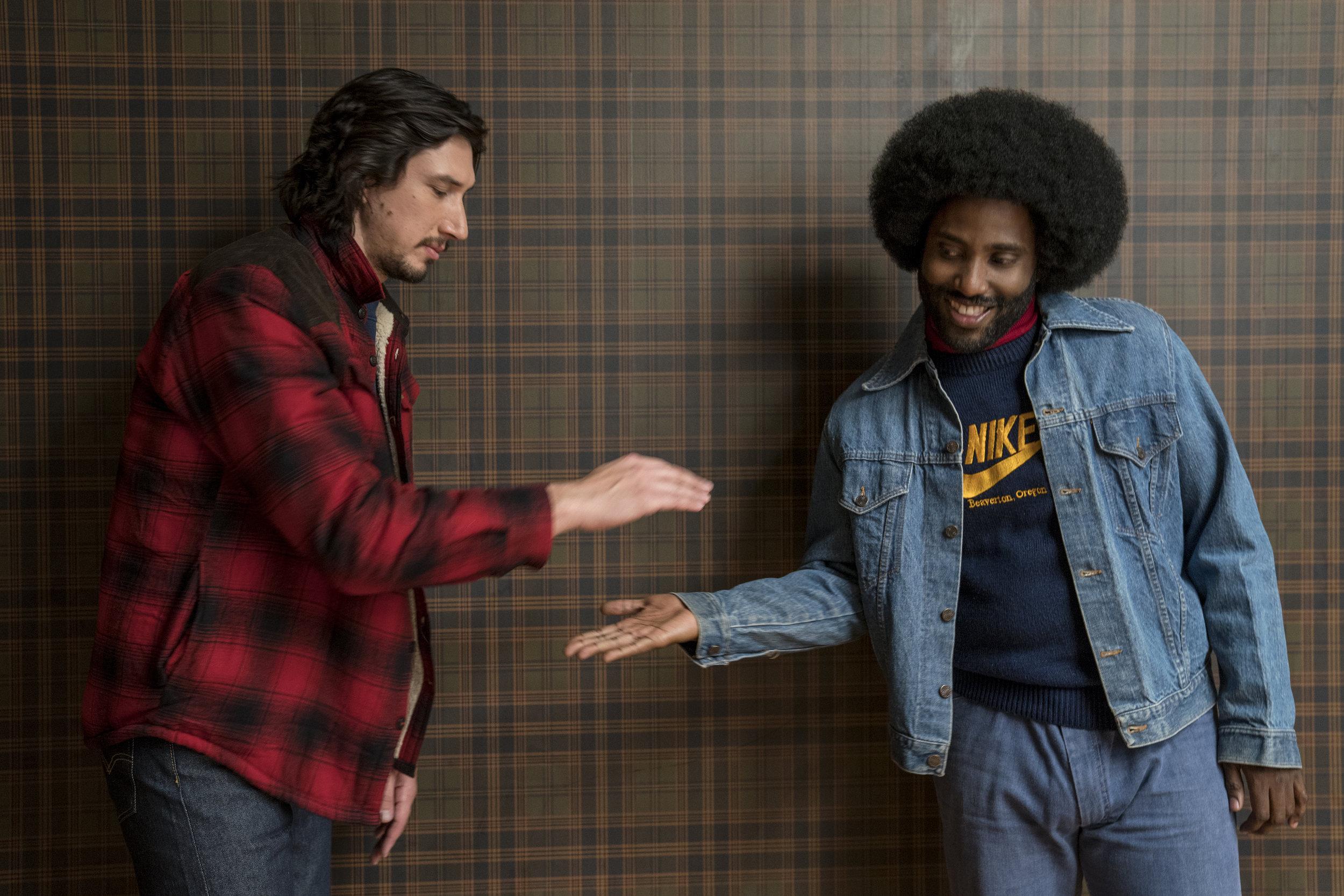 Adam Driver and John David Washington in  BlacKkKlansman (2018)
