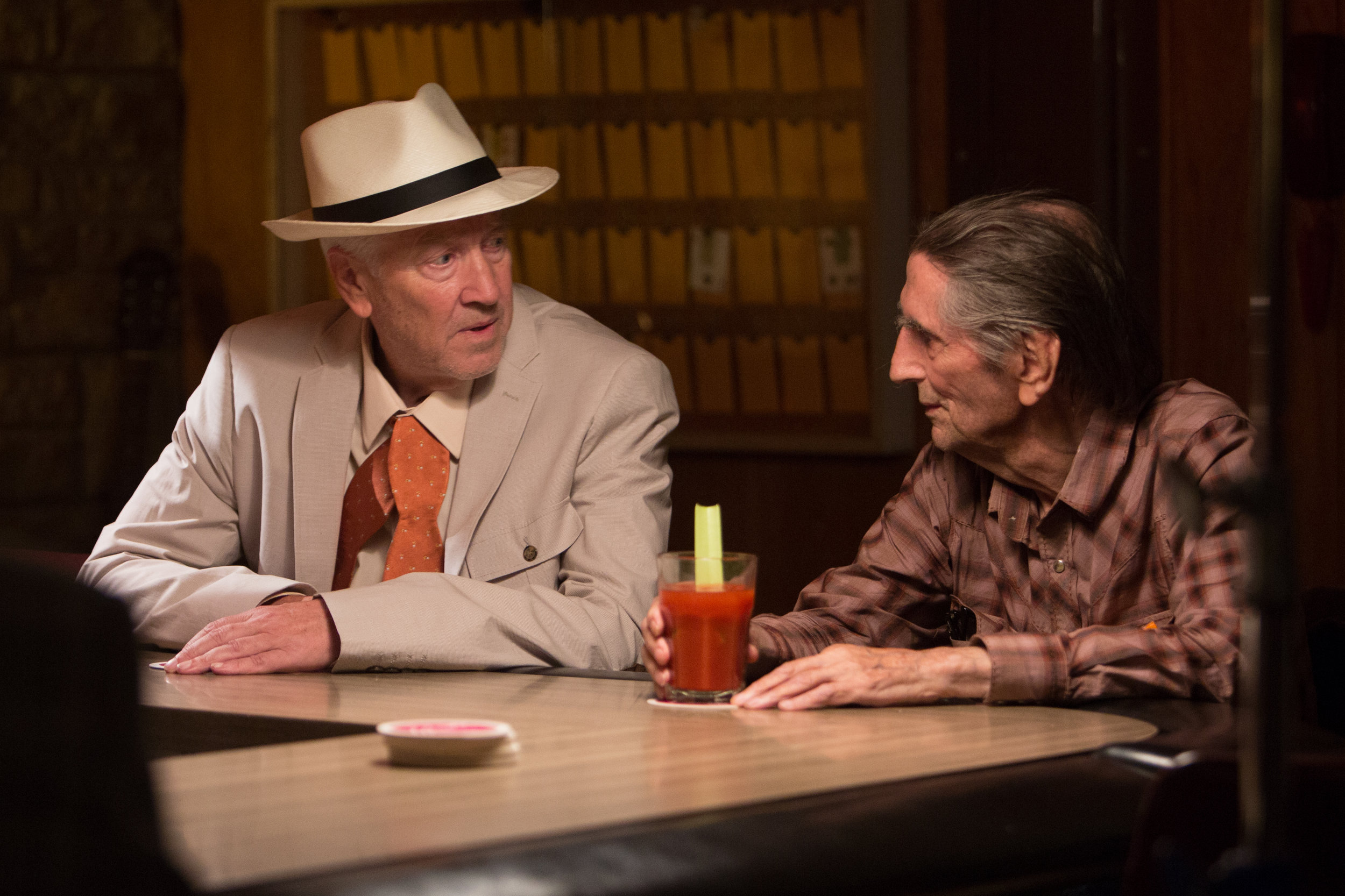 David Lynch and Harry Dean Stanton in  Lucky  (2018)