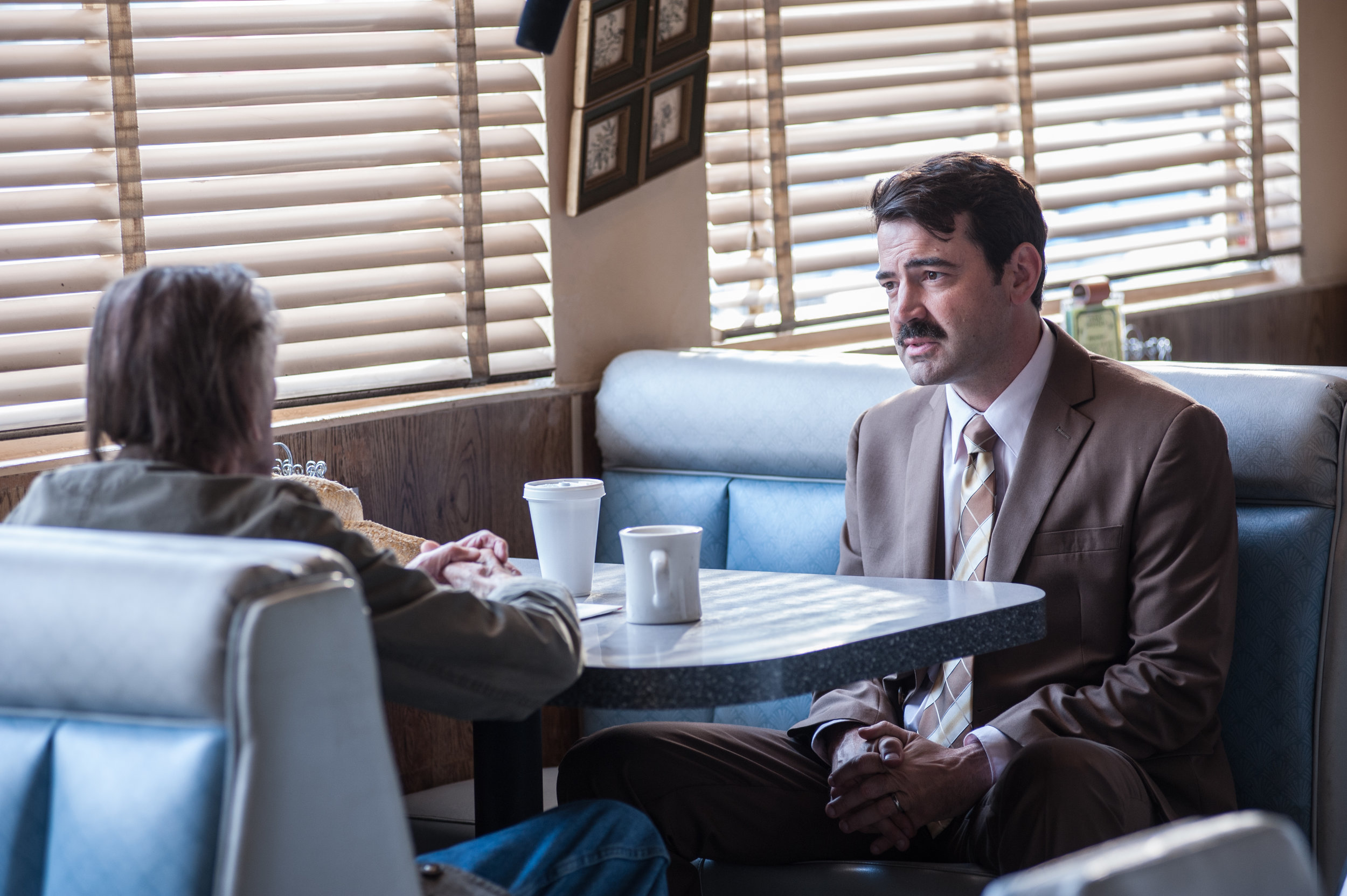 Harry Dean Stanton and Ron Livingston in  Lucky  (2018)