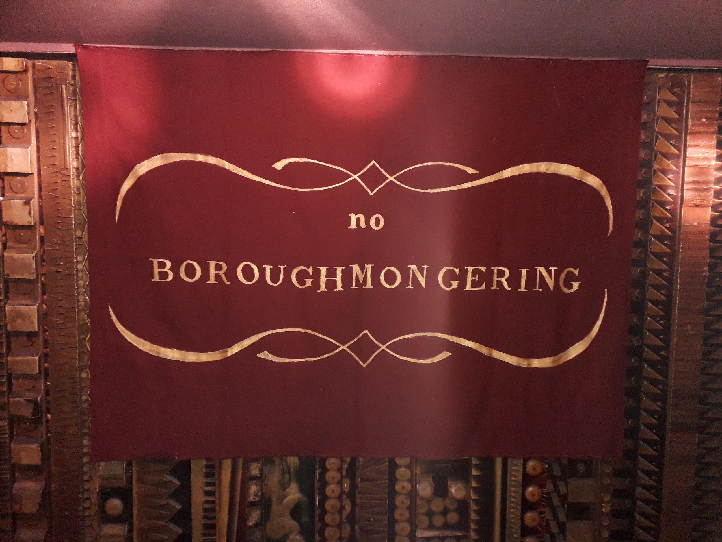 """No Boroughmongering"" on display at Curzon Mayfair"