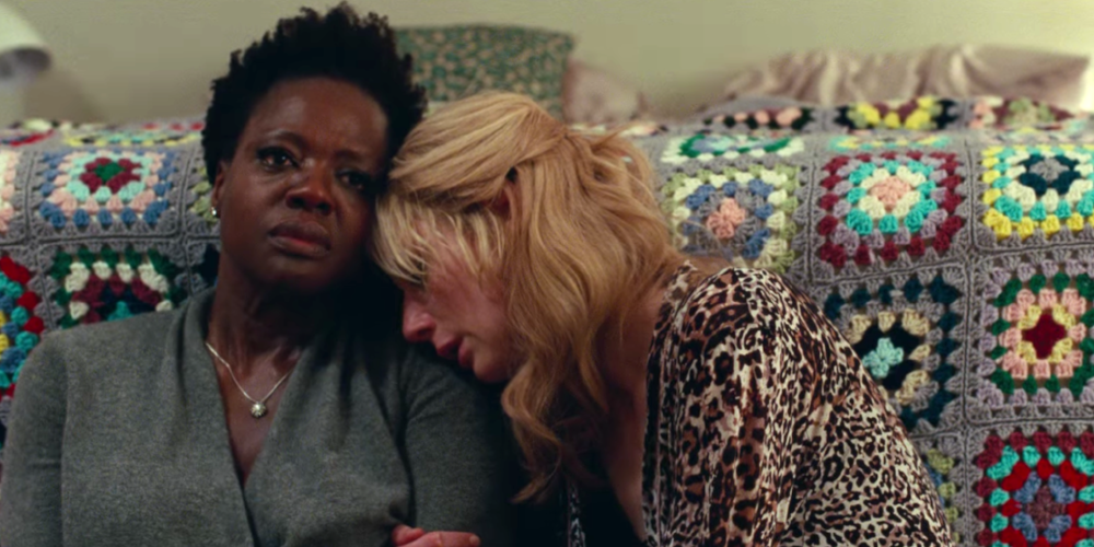 Viola Davis and Elizabeth Debicki in  Widows  (2018)