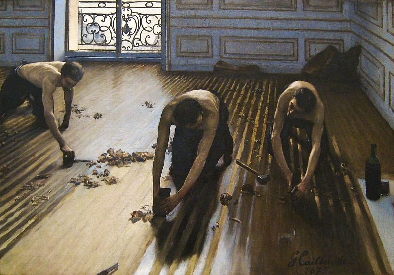 Gustave Caillebotte, 1875   The Floor Scrapers