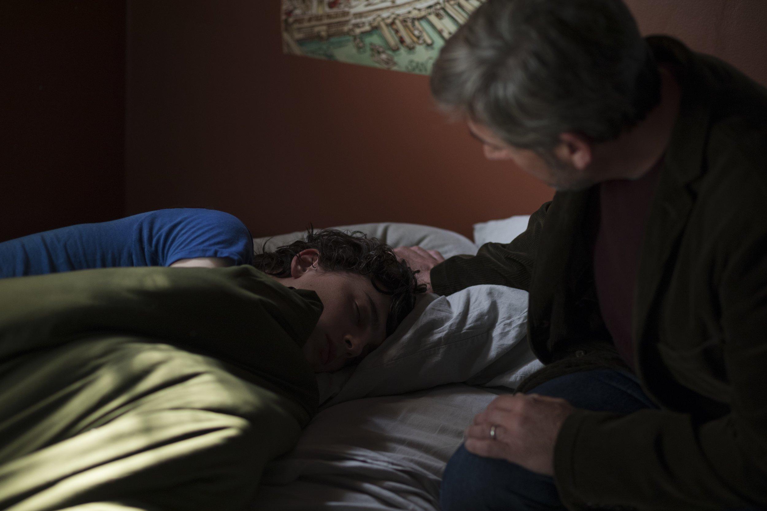 Timothée Chalamet and Steve Carell in  Beautiful Boy