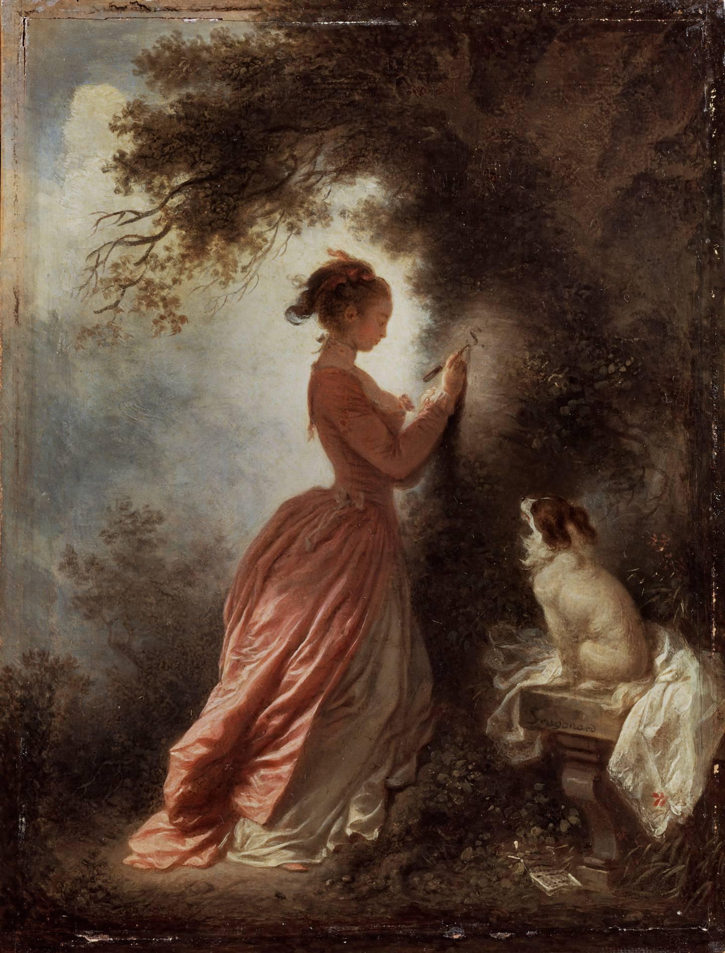 Jean-Honoré Fragonard (1732 - 1806), The Souvenir, c.1775 - 1780
