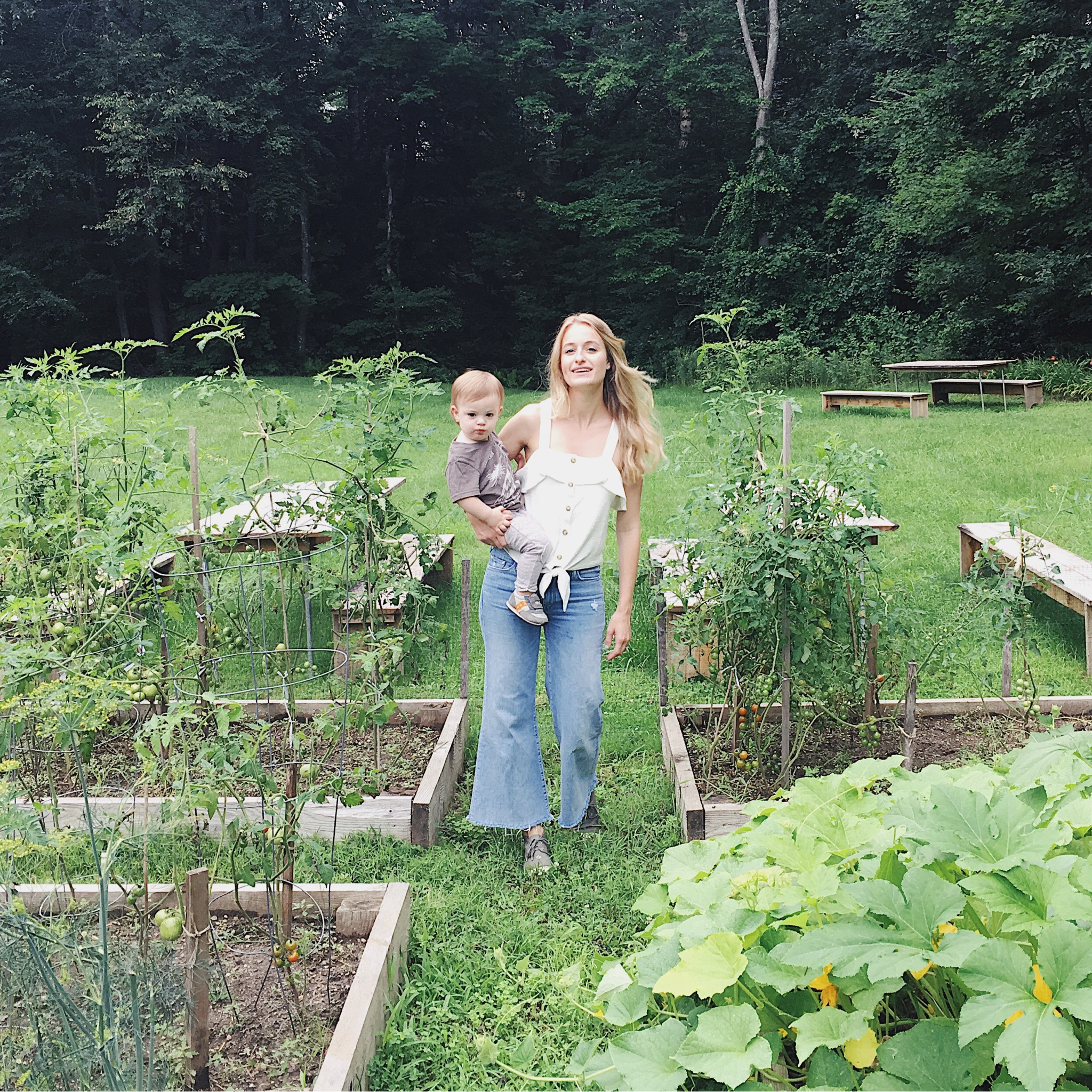 VEGETABLE GARDEN AT THE BRIARCLIFF MOTEL