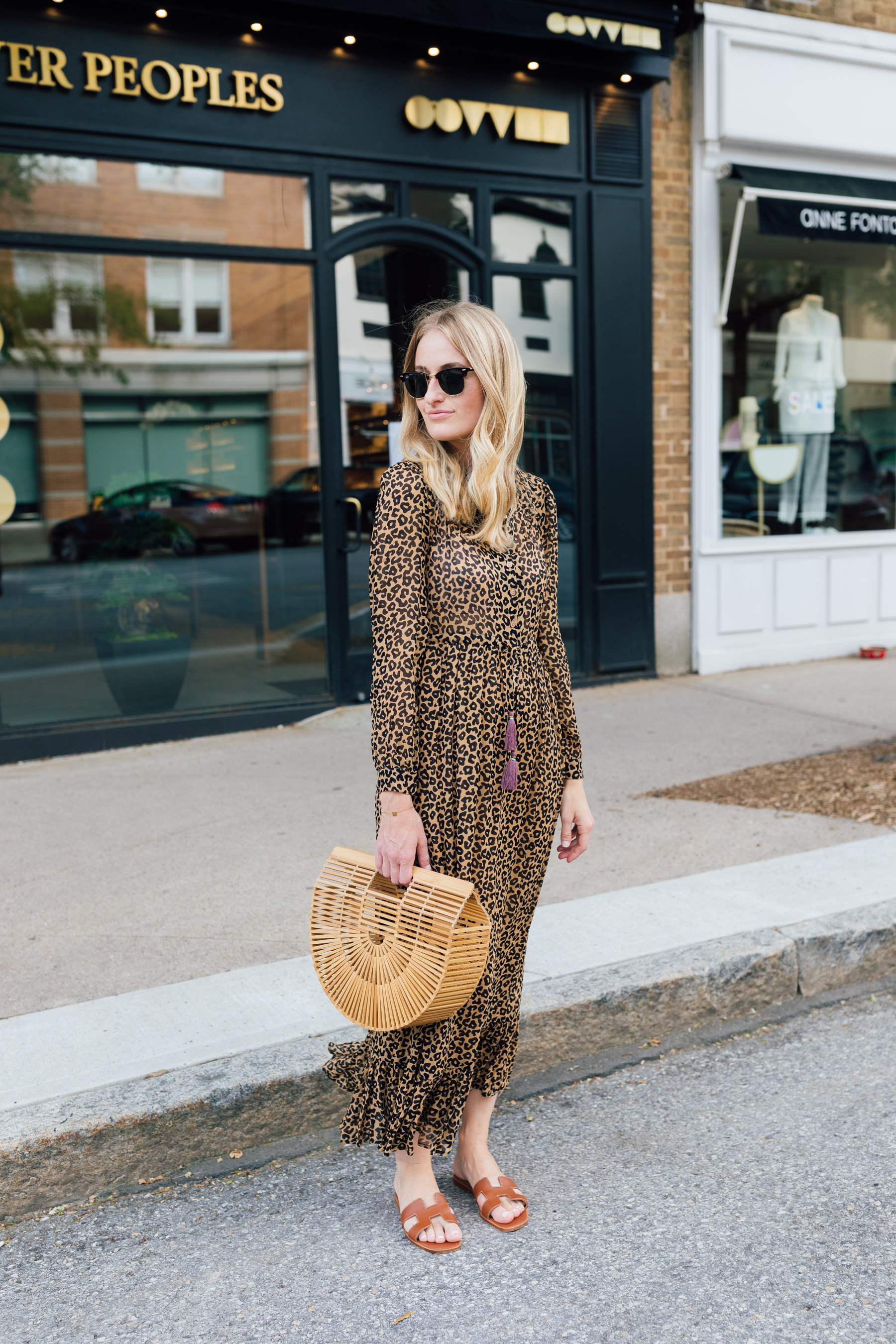 How to style a leopard maxi dress // stephanie trotta // the girl guide