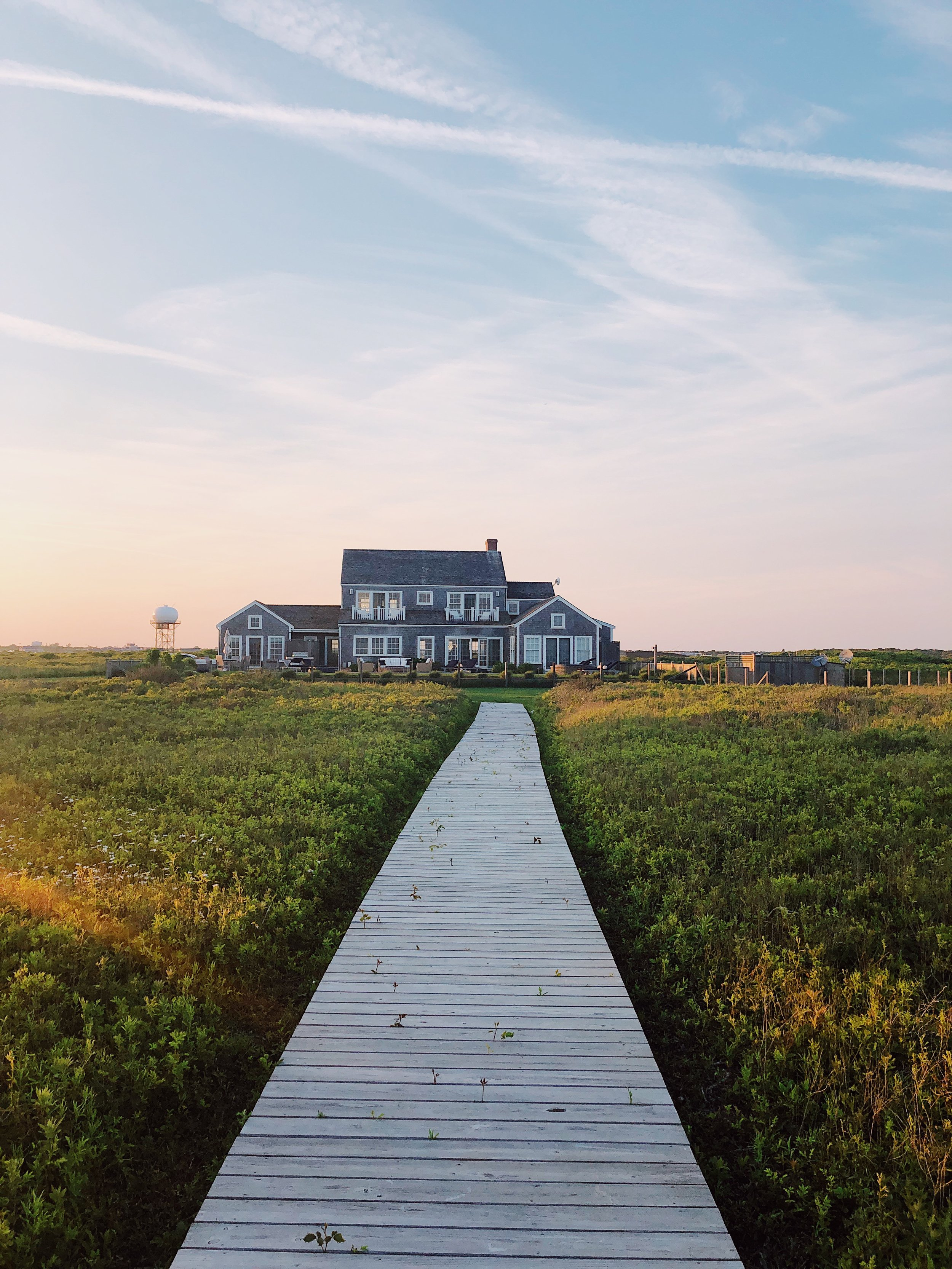 Nantucket at Sunset // House on the water // Stephanie Trotta
