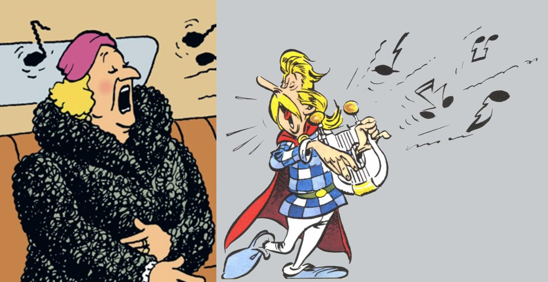 singers in asterix and tintin