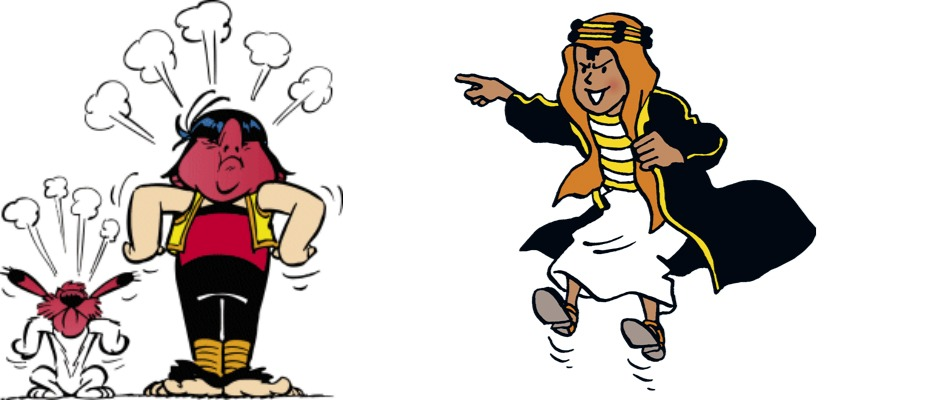 brats in asterix and tintin
