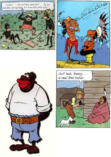 racism in asterix and tintin