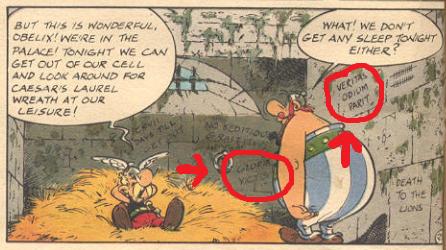 Latin in Asterix cell veritas odium parit