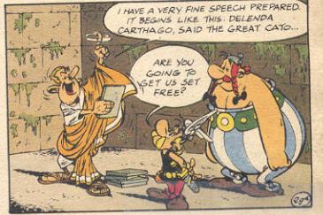 delenda carthago said the great cato