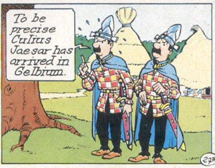 Tintin crossover in Asterix Belgium