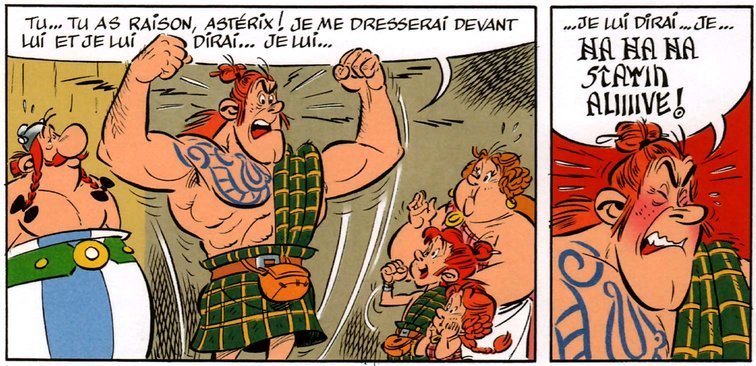 stayin alive asterix