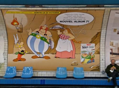 asterix in paris metro