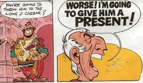 caesar gives a present