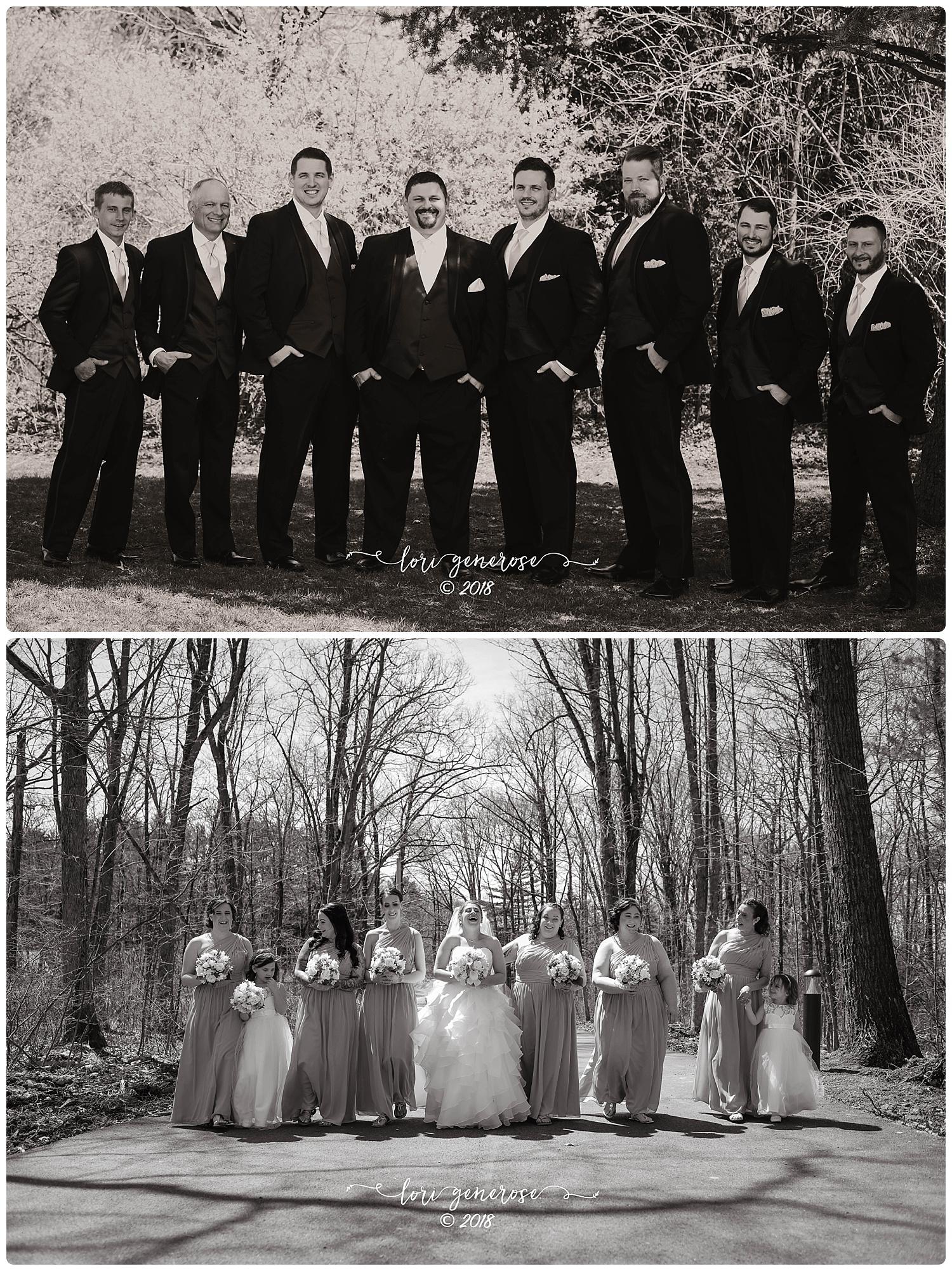 groomsmenandbridesmaidswalkingblackandwhitelgphotography.jpg