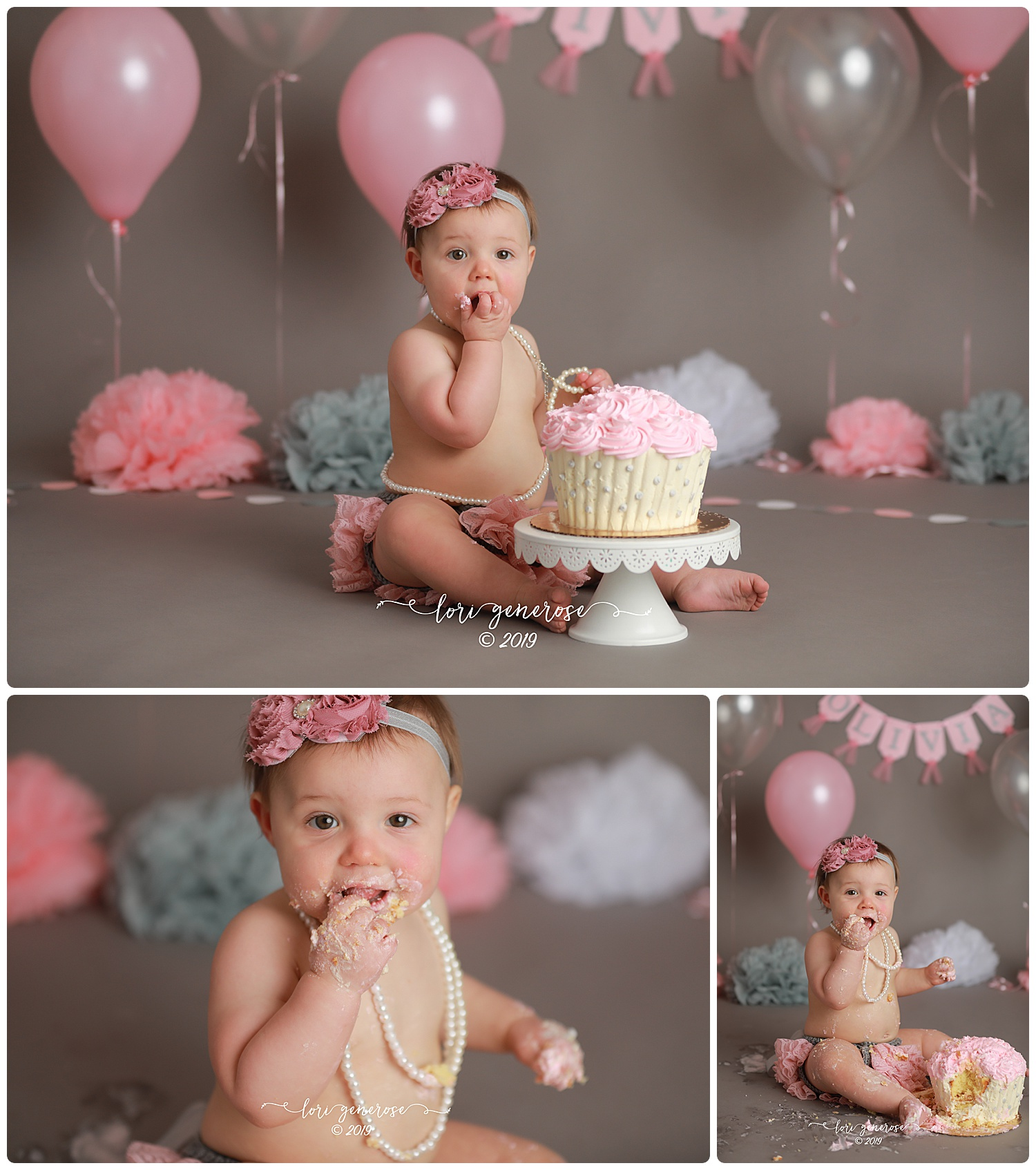 I can't believe little Miss Olivia is ONE!!!! She liked her cake and her pearls! 🎂