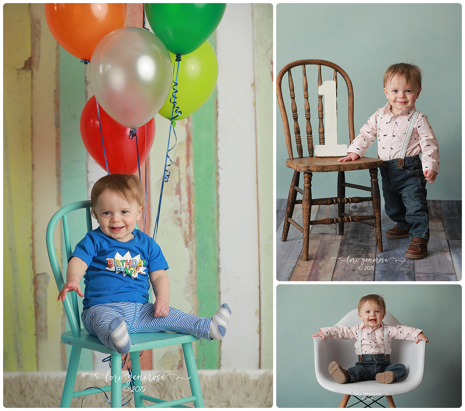 There's just something about this photo that I can't get enough of. Oliver ROCKED his first birthday session with tons of smiles and so-bigs! I love his sweet little smirk here, though. He's a sweetie, this one 💙