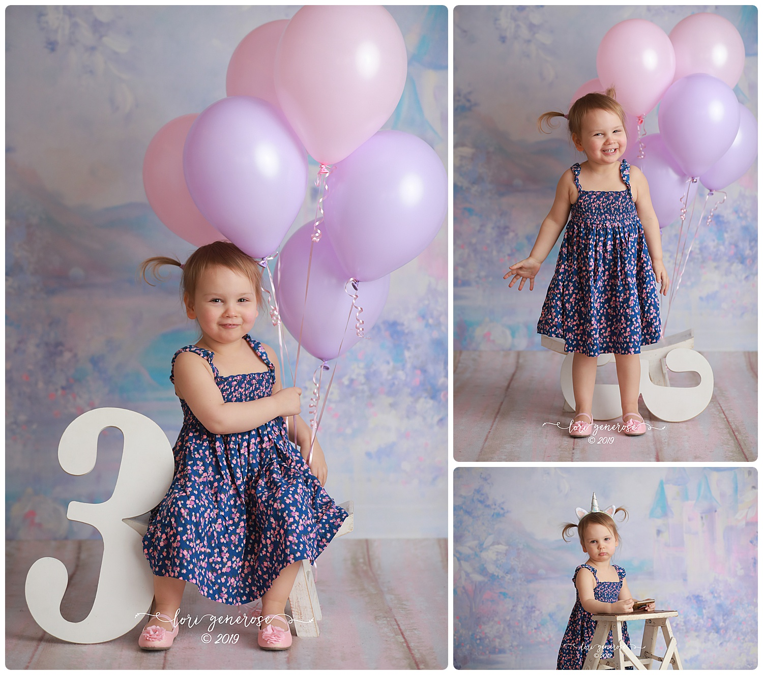 Claire is as happy as can be! She loved playing with her balloons and running away from my camera 😉  Happy 3 years little lady 💜
