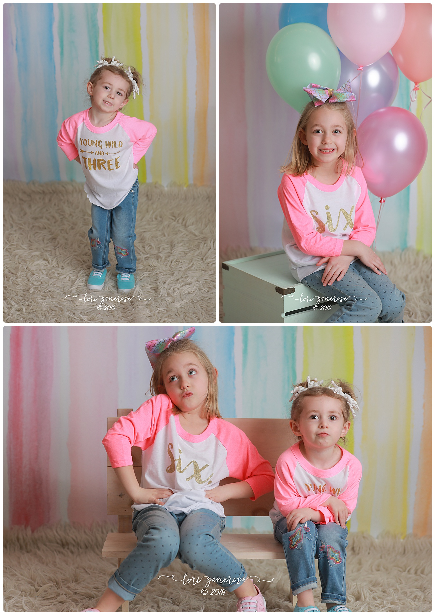 Kaycee is turning SIX and Camryn is THREE 💕 Soooo much history between this family and I. Kaycee was just a little peanut in my basement at my house when we first met and since then, I've captured her birthday photos every year, mom and dad's engagement, wedding day, family photos, the addition of baby sister and then Cam's yearly photos, too. This right here is why I love what I do. It's families like this that allow me to say that I have the best job in the world. Love you guys ❤️