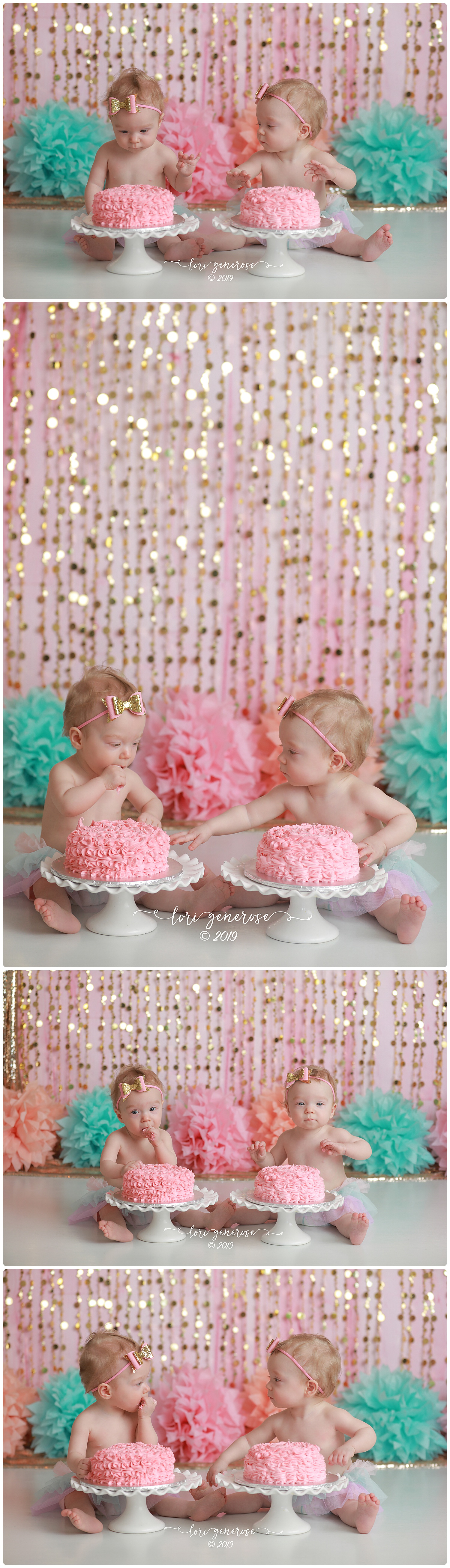 lgphotographylorigenerosepinkandgoldcakesmashtwinsfloralfirstbirthdaytwingirls.jpg