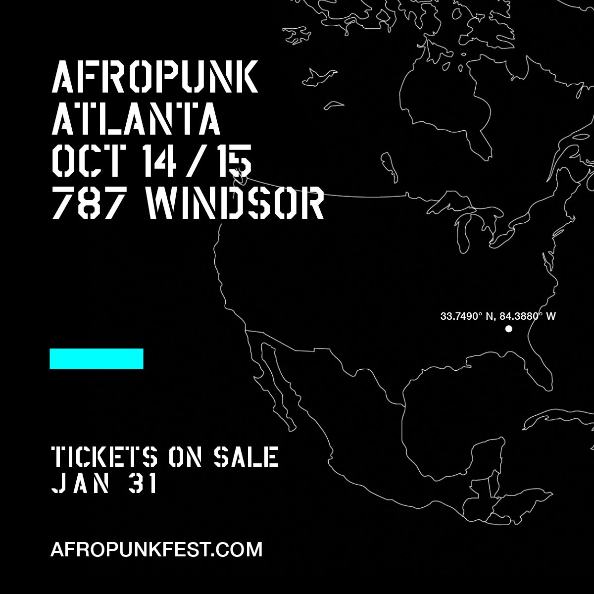 """TICKETS  Get your tickets to what The New York Times hails as """"the most multicultural festival in the US."""" With a mix of music, art, and politics, don't just join the party—join the movement.  http://afropunkfest.com/atlanta/tickets/"""