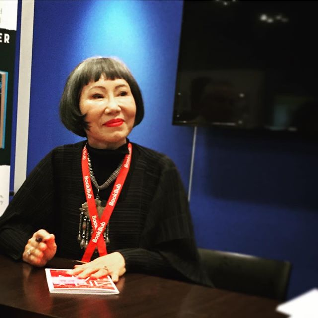Wow. #AmyTan at the @harpercollinsus booth #bookexpo