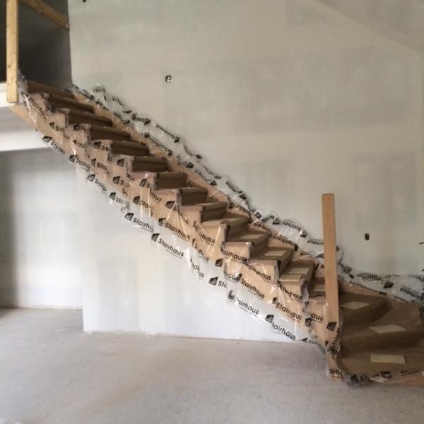 """Open 1 Side, 1-3/4"""" Oak Treads - Winderbox  Job Location: Bracebridge, ON"""