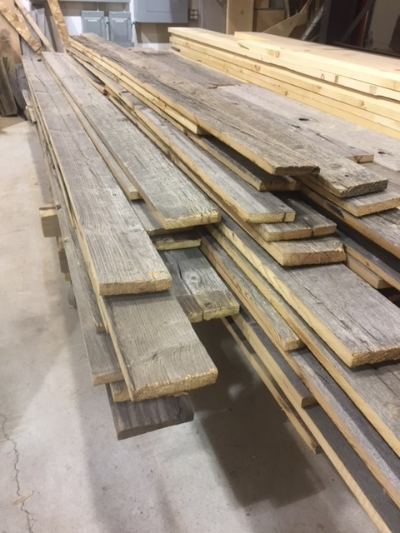 Here is a picture of a dressed barn board order. The material is dry and denailed. We rip the boards so they are ready to be installed on a wall/headboard etc. — in  Barrie, Ontario .