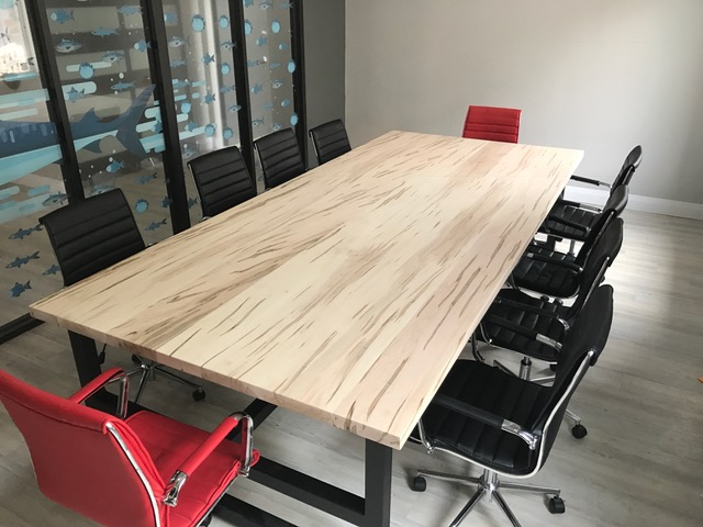 """1-3/4 x 60"""" x 132"""" Wormy Maple Boardroom Table top  Job location: Barrie, ON"""