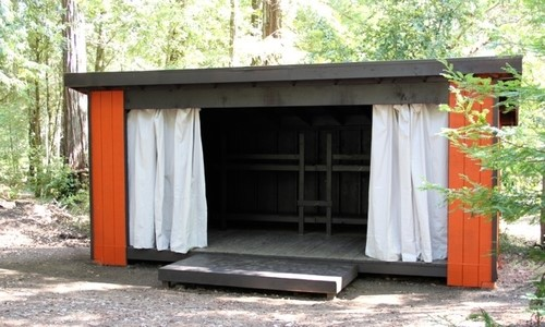 29 ADIRONDACKS or 'open-air' cabins [3-walled, 8 person capacity] grouped into 9 villages.    * Bedding is not provided, please bring sheets, blankets, and/or sleeping bags and pillows    **Cabins and Adirondacks beds all have foam mattresses