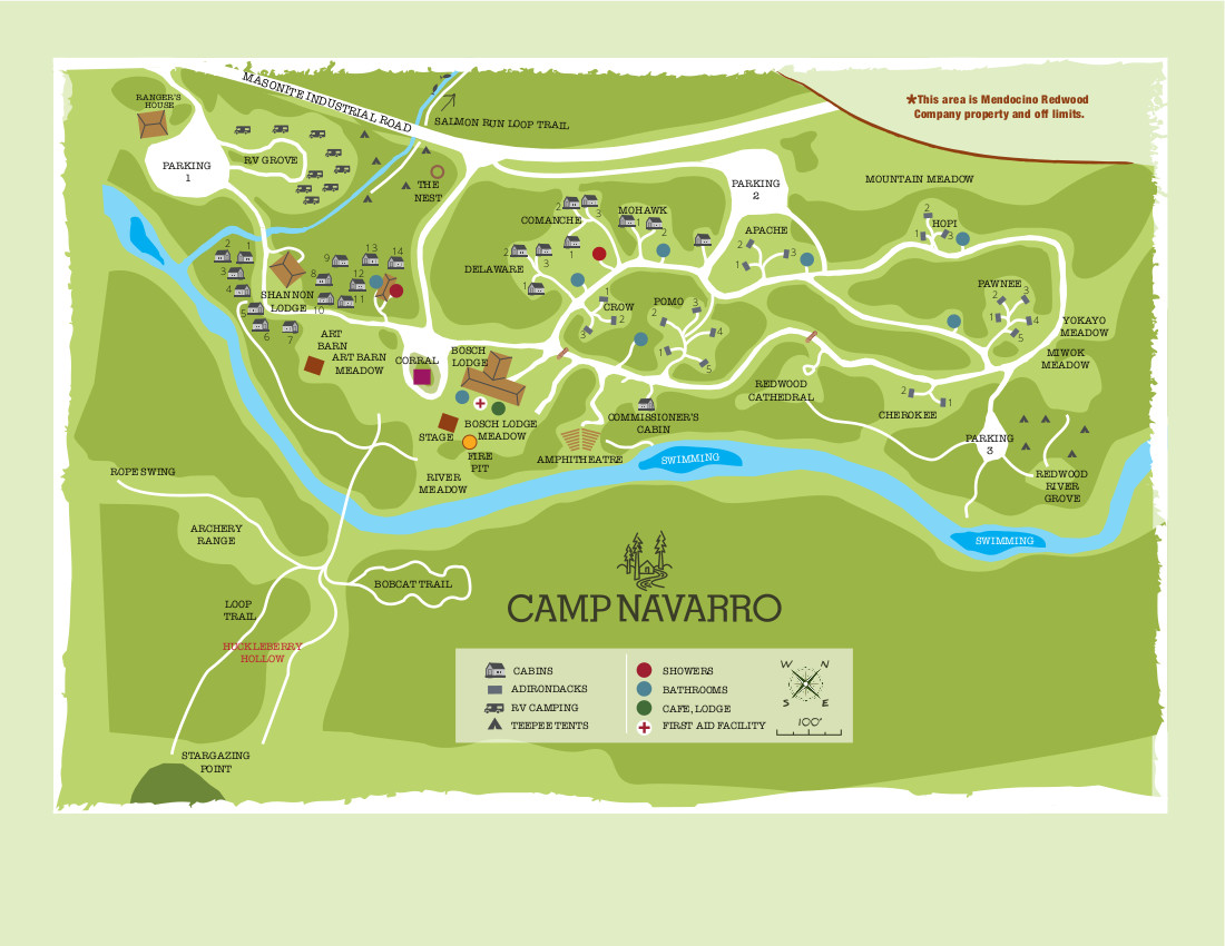 Camp Navarro Map