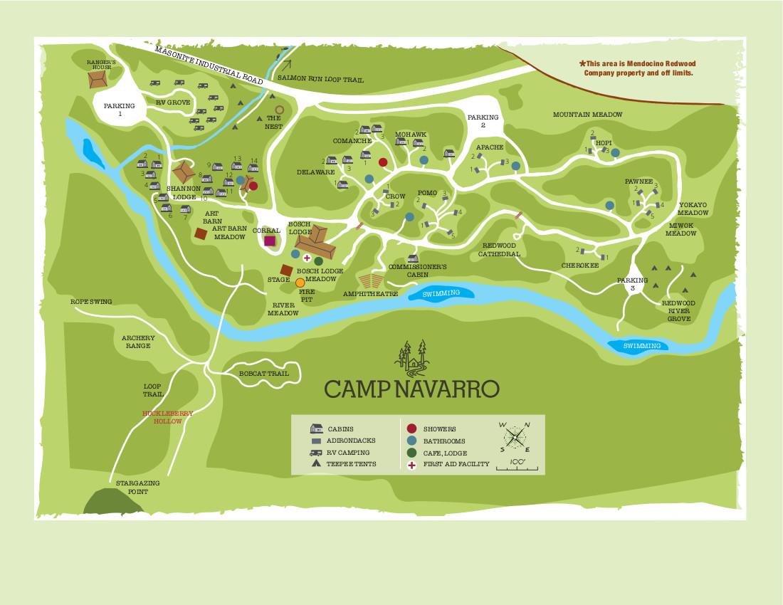 Camp Navarro Map