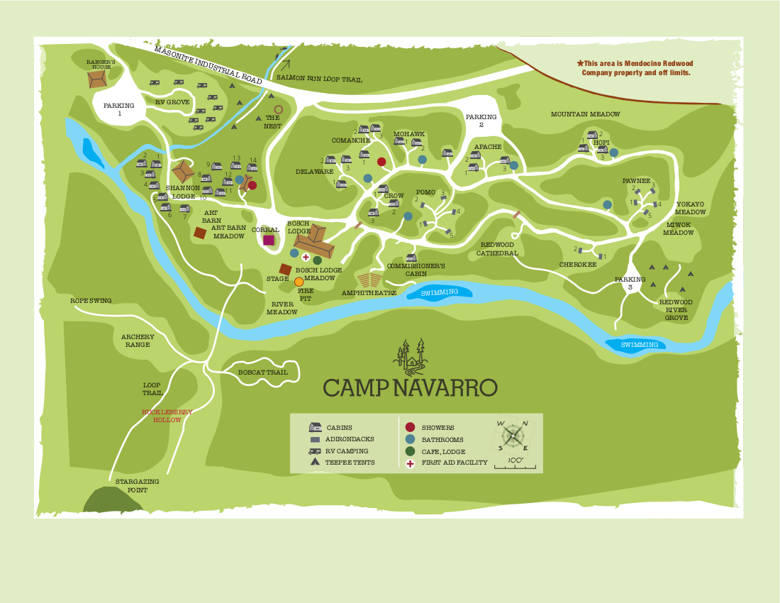 Camp Navarro-Map