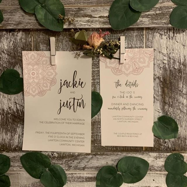 After your wedding, what do you do with your wedding invitations? I know many couples frame them and display in their home as reminder of their special day. Since your wedding invitations should match your personality and style, they will probably fit right in. @jackieelyy hung hers on these adorable frames from @troveofportage. She even incorporated her ceremony program on a second one. Photo from @jackieelyy #weddinginvitations #aftertheweddings #vintageframes #hangitup #customweddinginvitations #trove #troveofportage #frameit #weddingstyle