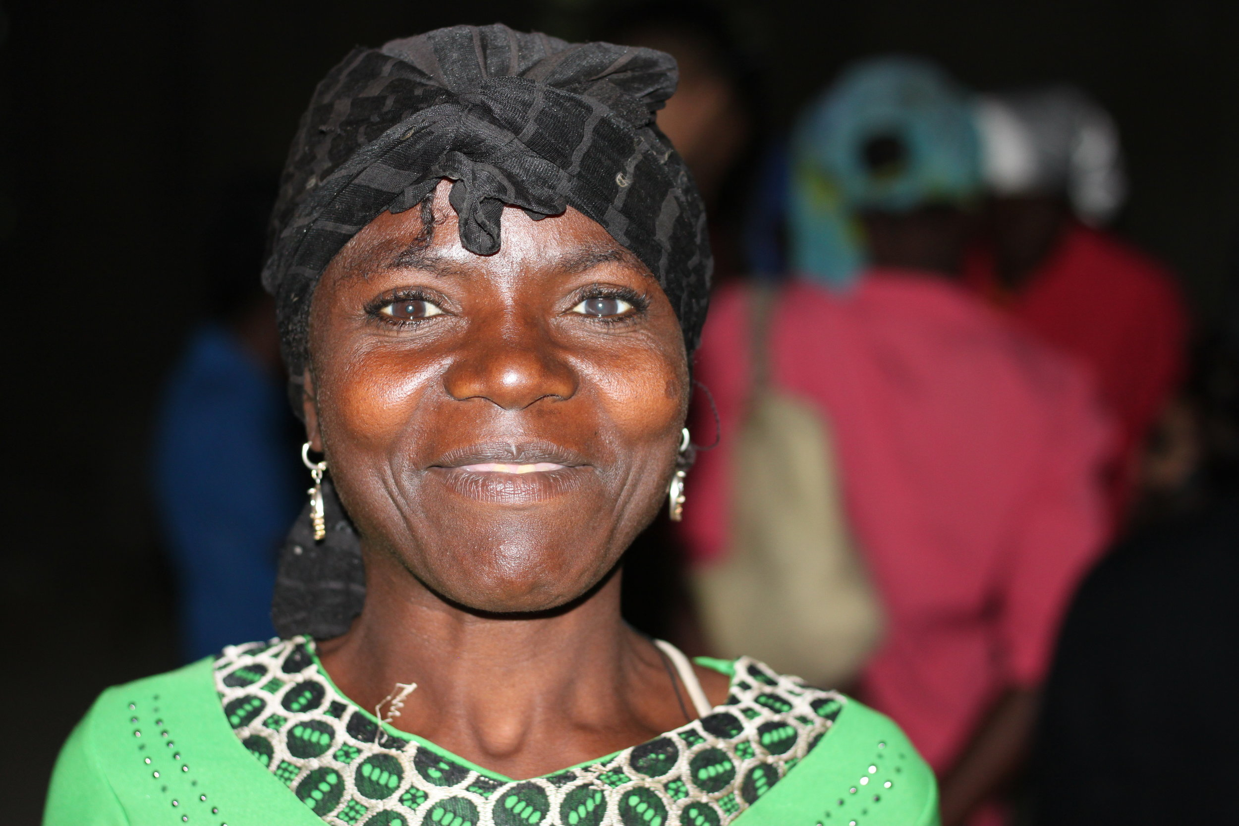 """Celest Auxillein - 38 years old""""My husband has left me, and I don't know where he is. So I am on my own with my nine children, all of whom go to school in Chermaitre, but it is a struggle. And I haven't found a job yet."""""""