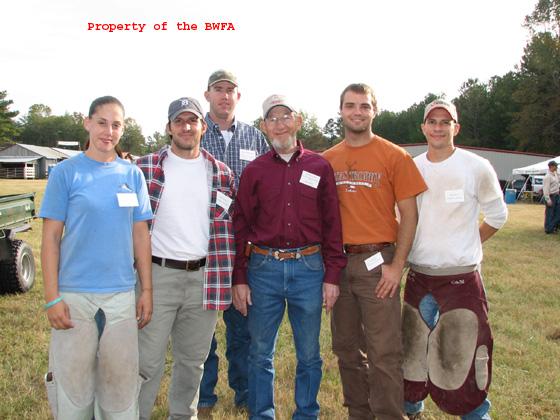 Reggie Kester at center. Farrier Student Contest 2006
