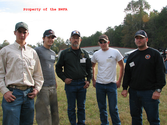 John Burt at center. Farrier Student Contest 2006